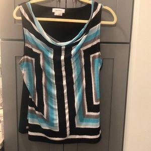 Calvin Klein women's sleeveless scoopneck top